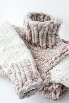 chunky knit sweater inspiration - no pattern