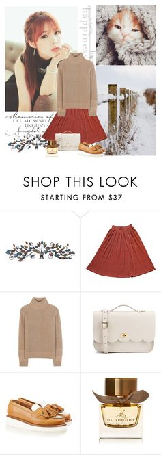"""""""❤Grateful ❤"""" by seemstobe ❤ liked on Polyvore featuring WALL, Home Decorators Collection, American Apparel, Michael Kors, The Cambridge Satchel Company, Grenson and Burberry"""