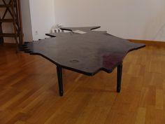 laque noire sur table basse