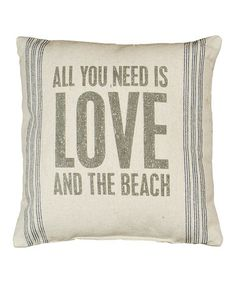Take a look at this 'And the Beach' Pillow by Primitives by Kathy on #zulily today!