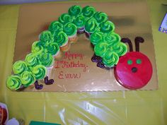 Caterpillar cup-cake!