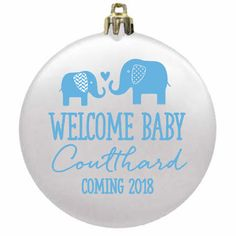 Baby Shower Ornaments Favors - Flat