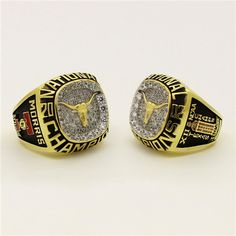 Custom 2002 Texas Longhorns Baseball National Championship Ring - University