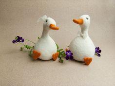 Felt - yes, FELT - ducks to put on top of a cake