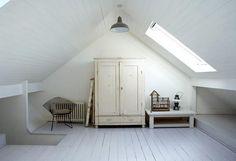finished attic space/loft attic idea