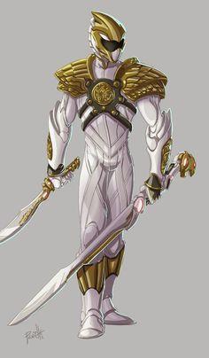 White Ranger color by ~Fpeniche on deviantART