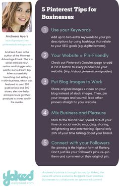 5 Pinterest Tips for your Business #smallbusiness #blogmarketing