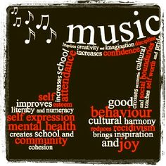 The importance of music education! These are just some of the reasons that I will always play music in my classroom! Music is so therapeutic too!