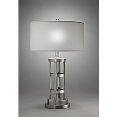 @Overstock - Update your home decor with this modern Aztec Lighting Table Lamp. This light fixture features a matte nickel finish with a white hardback linen shade.http://www.overstock.com/Home-Garden/Aztec-Lighting-Contemporary-1-light-Table-Lamp-in-Matte-Nickel/6581138/product.html?CID=214117 $86.99
