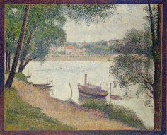 Georges Seurat - Gray Weather, Grande Jatte, ca. 1886/88