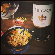 Wine and peanuts. De loach Zinfandel, to be precise.