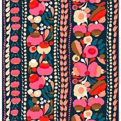 Marimekko's Tuppura fabric, blue - red - yellow