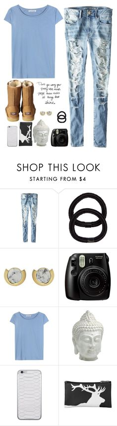 """Don't you worry your pretty little mind☁️🎢"" by alliquick ❤ liked on Polyvore featuring American Eagle Outfitters, John Lewis, Whistles, Fujifilm, Acne Studios, Cyan Design, Jamie Clawson and UGG Australia"
