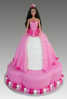 Rose Pink Barbie Cake