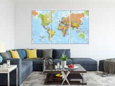Wall crawl picking the right art for your home and making sure it give this a look detailed world map canvas print wall art follow ajcanvasprints gumiabroncs Gallery