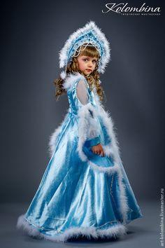 Купить Костюм Снегурочки - голубой, костюм снегурочки, снегурочка, карнавальный костюм, новогодний костюм, шифон
