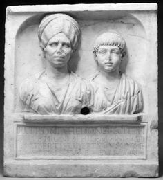 Roman mother Petronia Hedone and her son Lucius Petronius Philemon [700x774]