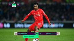 Liverpool \'need to buy\' a new striker after latest Daniel Sturridge injury blow Premier League Scores, Brand Identity, Branding, Global Tv, Liga Premier, Brendan Rodgers, Stoke City, Football Design, Sports Graphics