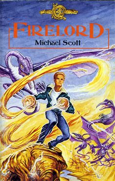 Firelord - the third Book of The De Danann Tales.  Peter Haigh did the cover.  Sadly the last two books in the series were never published.  (At least, not yet!)