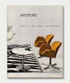 mid century european furniture ads - Google Search