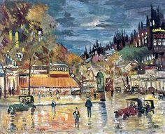 Grands boulevards la nuit   par Konstantin Korovone
