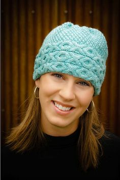 Aran Cable Hat by Leslie Verts using Mountain Colors 4/8s wool