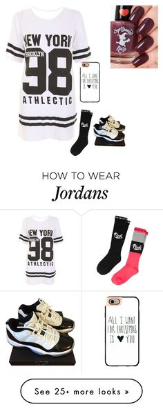 """"""""""" by justinbiebz94 on Polyvore featuring Victoria's Secret PINK, NIKE and Casetify"""