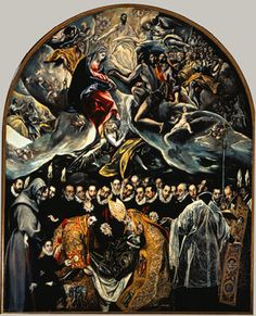 "El Greco (Domenikos Theotokopoulos), ""The Burial of Count Orgaz,"" oil on canvas, 1586-88, Church of Santo Tomé, Toledo, Spain | Heilbrunn Timeline of Art History | The Metropolitan Museum of Art"