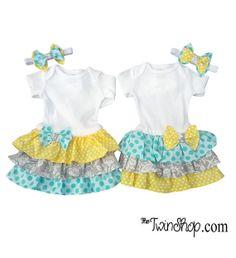 Sister Twin Girl Set  headbands  Grace & Gracie set by TheTwinShop, $55.00
