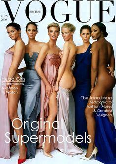 The original supermodels. Vogue cover, British, July 2009.