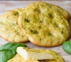 Quick and tasty, delicious appetizer or informal dinner #vegancooking,#vegetariancooking..Mini pizzas with herbs