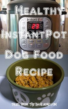 Homemade Dog Food Healthy InstantPot (Pressure Cooker) Dog Food Recipe - After a lot of research, and reading about dog nutrition, I came up with a healthy dog food recipe that can easily be prepared in your InstantPot. Food Dog, Make Dog Food, Homemade Dog Food, Puppy Food, Food Baby, Canned Dog Food, Instant Pot, Dog Food Recipes, Chicken Recipes