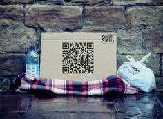 Clever use of QR codes by UK-based homeless charity: http://www.simononthestreets.co.uk