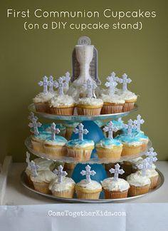 1st communion cupcakes