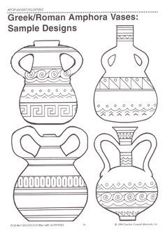 4 Efficient Tricks: Unique Vases For Wedding crystal vases etsy.Vases Centerpieces With Pictures geometric vases medium.Vases Repurpose Tin Cans. Greek Crafts, Greece Art, Rome Antique, Antique Vases, Ancient Greek Art, Greek Pottery, Vase Design, Paper Vase, Clay Vase