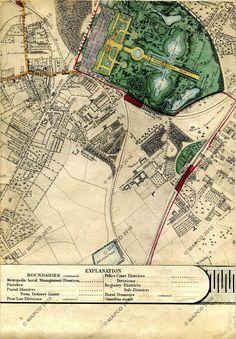 Joseph Paxton, Crystal Palace, London, England, 1851 Map Of Crystal Palace