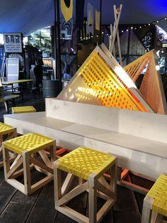 Winter transformation for Pop Brixton. Design by Upcircle Design Studio London, Slow Design, Design Movements, Soft Seating, Graphic Design Studios, Brixton, Sustainable Design, Innovation Design, Service Design