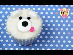 POLAR BEAR MINI CUPCAKE - Decorate cute mini cupcakes - kids cake decora...