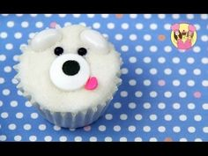 POLAR BEAR MINI CUPCAKE - Decorate cute mini cupcakes - kids cake decorating