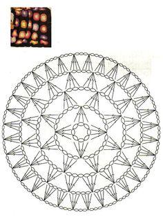 Crochet circle chart pattern
