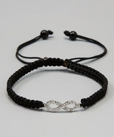 Black & WhiteDiamond & Sterling Silver Dainty Infinity Bracelet...I see this at Ostermans and would love for David to get it for me