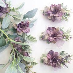 Lavender Bridesmaids Combs- Purple Wedding Sets- Hair Accessories- Bridesmaids Gift- Lavender Wedding- Decorative Hair Combs
