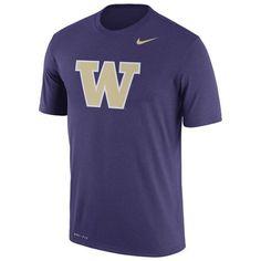 Washington Huskies Nike Logo Legend Dri-FIT Performance T-Shirt - Purple - $29.99