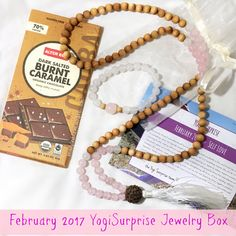 With February known as a Lover's month, this theme from Yogi Surprise should be, well, no surprise! What is Yogi Surprise? Yogi Surprise Jewelry Box 2 handmade pieces + 1 organic treat Ha…