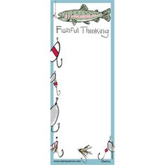 Perfect for an aide memoire for fishermen and women, this printed notepad with magnet backing makes it easy to stick to your fridge! Fishing Gifts, Magnets, Prints, How To Make, Cards, Maps, Playing Cards