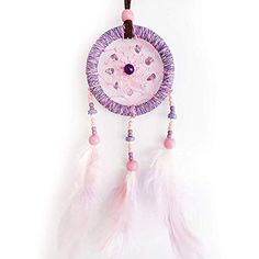 Beautiful Dream Catcher Violet for Bag, Car, Wall Hanging DecorHandmade New Dream Catcher Amazon, Dream Catcher For Car, Beautiful Dream Catchers, Cool Cases, Art Case, Colorful Feathers, Tie Dye T Shirts, Hippie Outfits, Iphone 7 Plus Cases