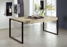 Cooles Design aus Mangoholz und Eisen: Die FACTORY-Möbel sind nicht nur praktisch, sondern besitzen auch eine unendliche Lässigkeit. Der Industrial-Look lässt sich zudem perfekt mit schon vorhandener Einrichtung kombinieren – probieren Sie es aus! #möbel #holz #massivholz #wood #design #homeinterior #interiordesign #home #decor #einrichtung #furniture #ideas #industrial #industrialchic #mango #massivmoebel24 #tisch #table #esszimmer #diningroom #esstisch #holztisch #dinnertable