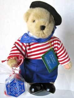 MUFFY VANDERBEAR-PARIS BISTRO:LE LAPIN ROTUND: MUFFY#5222-FROM 1997 NEW with Tag #NorthAmericanBearCo