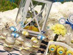 Baby Boy Nautical Baby Shower Dessert Table Decor Ideas