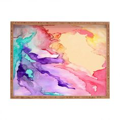 DENY Designs Rosie Brown Color My World Rectangular Tray & Reviews   Wayfair